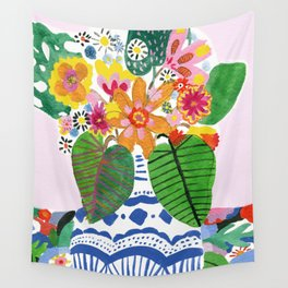 Abstract Flower Bouquet Wall Tapestry