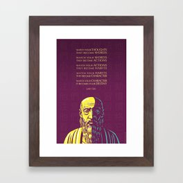 Lao Tzu Inspirational Quote: Watch your thoughts Framed Art Print