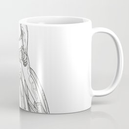 Road Bicycle Racing Doodle Coffee Mug