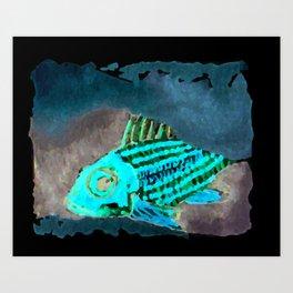 Cirrus/ Cardinal fish Art Print