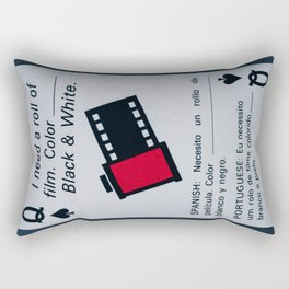 Vintage Playing Card: Film Rectangular Pillow