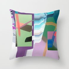 Split and Twist Throw Pillow