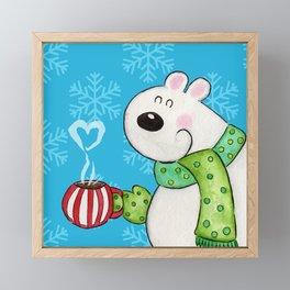 Hot Cocoa Polar Bear Framed Mini Art Print