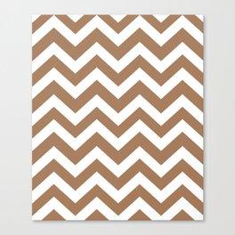 Tuscan tan - brown color - Zigzag Chevron Pattern Canvas Print
