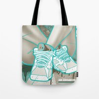 air jordan Tote Bags featuring Air Jordan VII by Maurice Creative