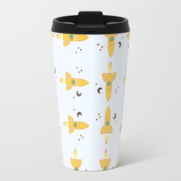 Spaceships pattern Travel Mug