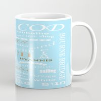 cape cod Mugs featuring Cape Cod Typography Print by ELIZABETH THOMAS Photography of Cape Cod