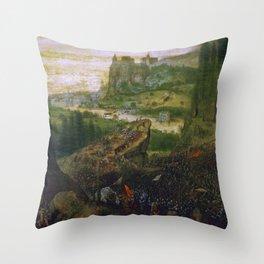 """Pieter Bruegel (also Brueghel or Breughel) the Elder """"The Suicide of Saul"""" Throw Pillow"""
