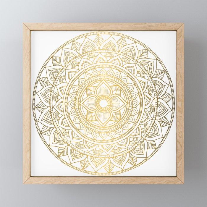Gold Bali Mandala Framed Mini Art Print