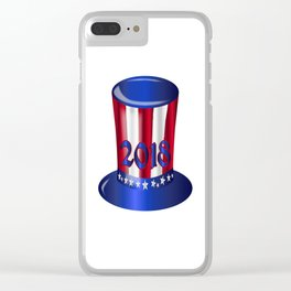 Uncle Sam 2018 Flag Hat Clear iPhone Case