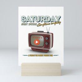 Past & Present: Saturday Night On Demand Mini Art Print