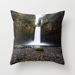 Abiqua Falls Throw Pillow
