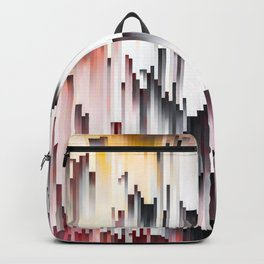 White Black Mauve Cascade Abstract Backpack