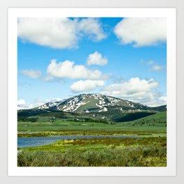 Yellowstone Mountain Art Print