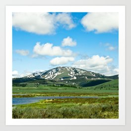 Yellowstone Mountain Art Print
