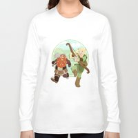 legolas Long Sleeve T-shirts featuring LotR- Legolas & Gimli by Firehouselight