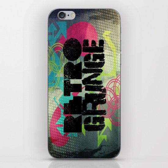 Abstract373 Retro Grunge iPhone & iPod Skin