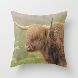 'Hamish' The Highland Cow Throw Pillow