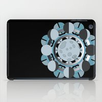 moon phases iPad Cases featuring Moon Phases by TypicalArtGuy