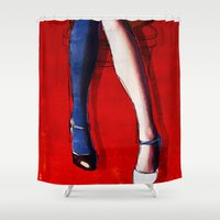 legs Shower Curtains featuring Legs by Ed Pires