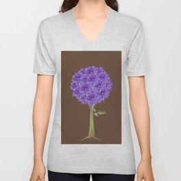 Flowerpower - Purple Flower Ball - Society6# #buyart Unisex V-Neck