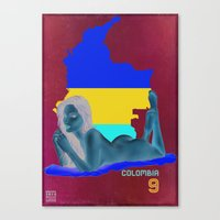 colombia Canvas Prints featuring Colombia by Kingdom Of Calm - Original Art & Illustr