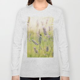 A bee on the lavender Long Sleeve T-shirt