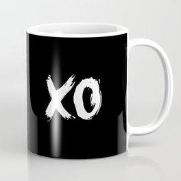 XO Hugs and Kisses white and black gift for her girlfriend xoxo bedroom art and home room wall decor Coffee Mug