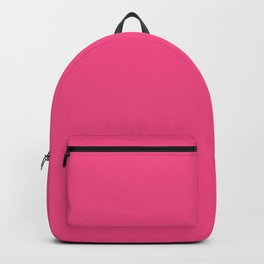 French Rose - solid color Backpack