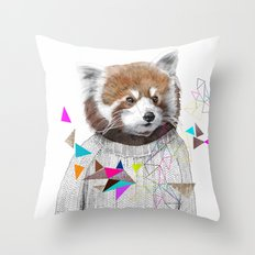 RED PANDA by Jamie Mitchell and Kris Tate Throw Pillow