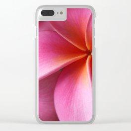 Pua Lei Aloha Cherished Blossom Pink Tropical Plumeria Hina Ma Lai Lena O Hawaii Clear iPhone Case