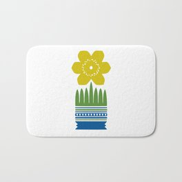 Nordic Yellow Flower Bath Mat