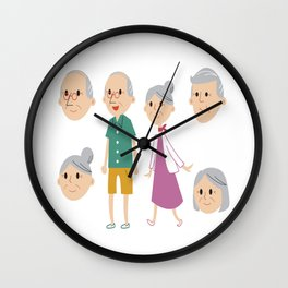 Happy National Grandparents Day Wall Clock