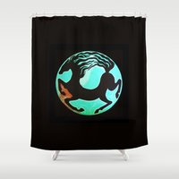 horse Shower Curtains featuring Horse by Abundance