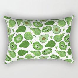 Green fruits and vegetables Rectangular Pillow