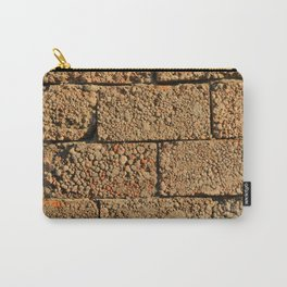 old wall of cinder blocks Carry-All Pouch