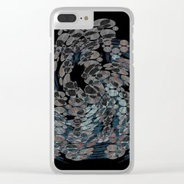 Elegant Stone Whirlwind Earth Elements Abstract Clear iPhone Case