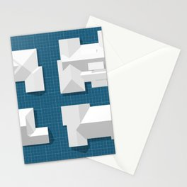 Roofscape #4 Stationery Cards
