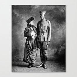 Mrs. Parker & son Canvas Print