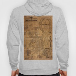 Map Of Omaha 1878 Hoody
