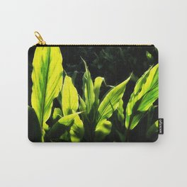 Ginger leaves in the Sun wet with rain Carry-All Pouch