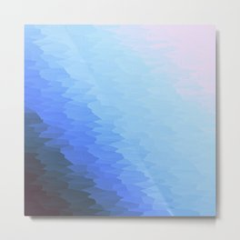 Blue Texture Ombre Metal Print