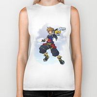 kingdom hearts Biker Tanks featuring Kingdom Hearts 2 - Sora by Outer Ring
