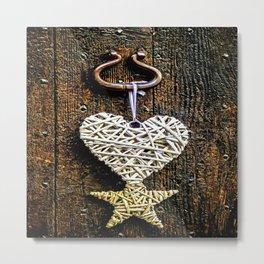 Heart On The Door Metal Print