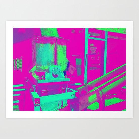 Industrial Abstract Purple Art Print