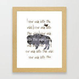 Walk into the Wild Framed Art Print