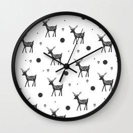 Random Frolicking fawns Wall Clock