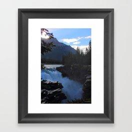 Falling Water - Canadian Rockies Waterfall Framed Art Print