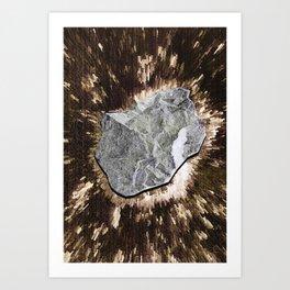 Smart Snow Stone III Art Print