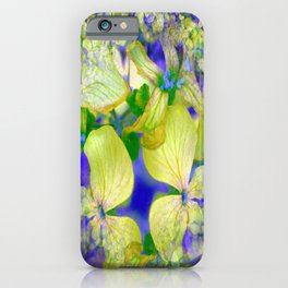 Green Violets Seamless Fractal - IA iPhone Case